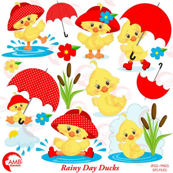 Umbrella clipart spring shower Umbrella Duck Rainy Clipart Duck