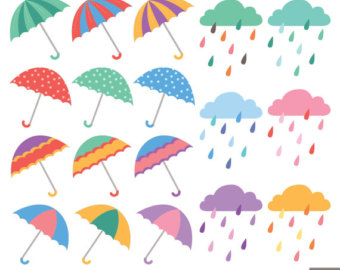 Umbrella clipart spring shower Spring clipart Etsy shower Shower