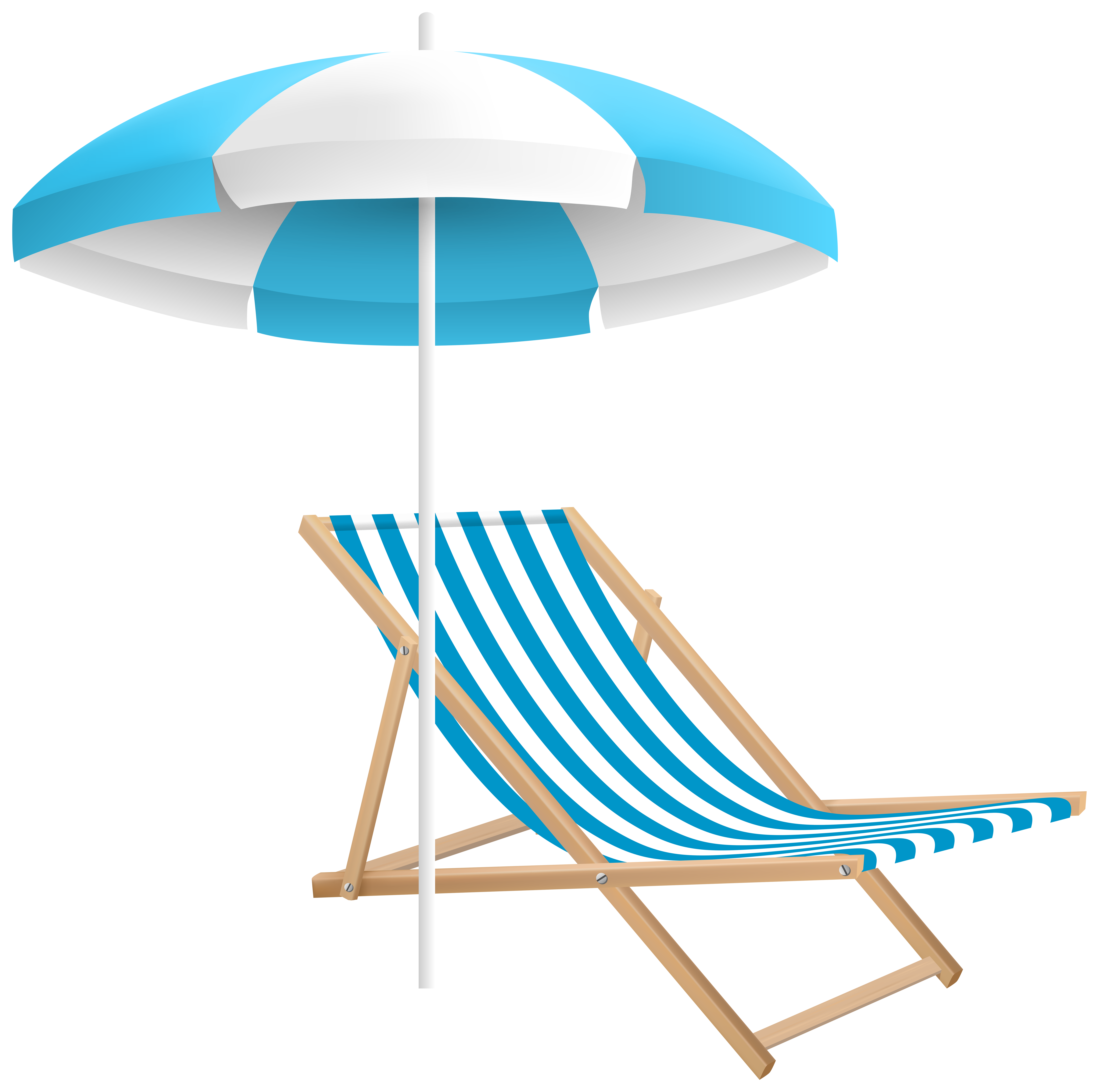 Vacation clipart beach chair Clip and  PNG Image
