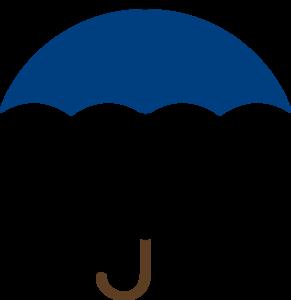 Covered clipart umbrella Blue Clip Umbrella art Navy
