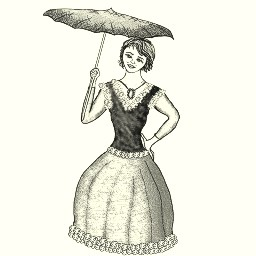 Umbrella clipart victorian Victorian victorian page in carrying