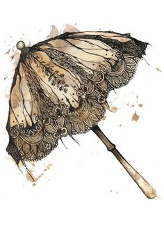Umbrella clipart victorian Vintage blogspot  Desserts to