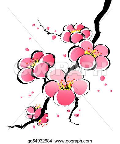 Ume Blossom clipart Sakura Illustrations Plum Royalty painting