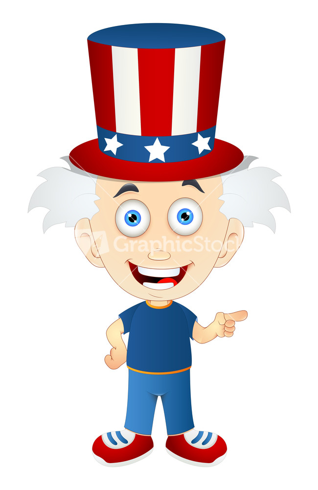 Uncle Sam clipart cute Kid Stock Uncle Sam