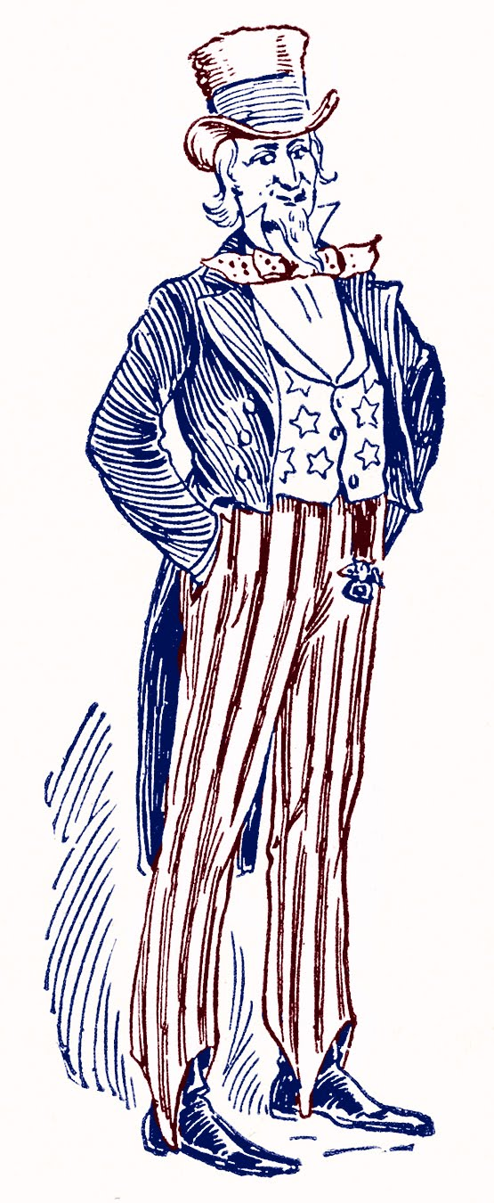 Uncle Sam clipart cute Sam Patriotic Sam Patriotic Vintage