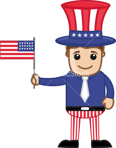 Uncle Sam clipart cute Of Stock July Costume Kid