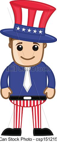 Uncle Sam clipart cute Vector of Clip Sam Art