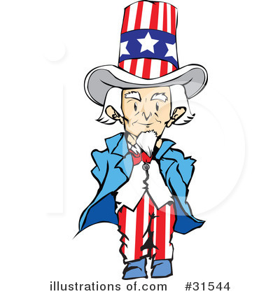 Uncle Sam clipart cute Art Clipart #31544 Illustration (RF)