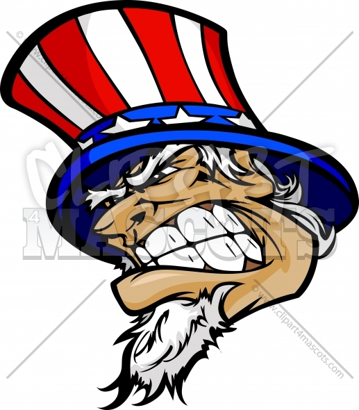 Uncle Sam clipart face Image Graphic Uncle Mascot Vector