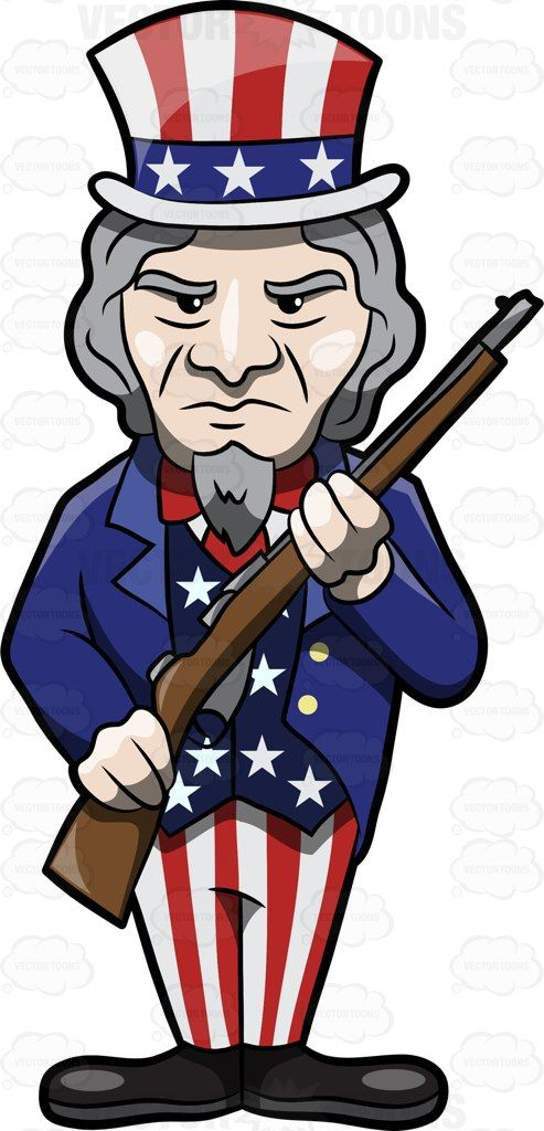 Uncle Sam clipart goatee Posing Rifle clipart 25+ Pinterest