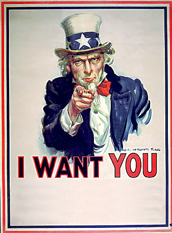 Uncle Sam clipart i want you  Want blank blank You