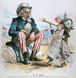 Uncle Sam clipart imperialism Cartoon American 1893 Gallery Storehouse