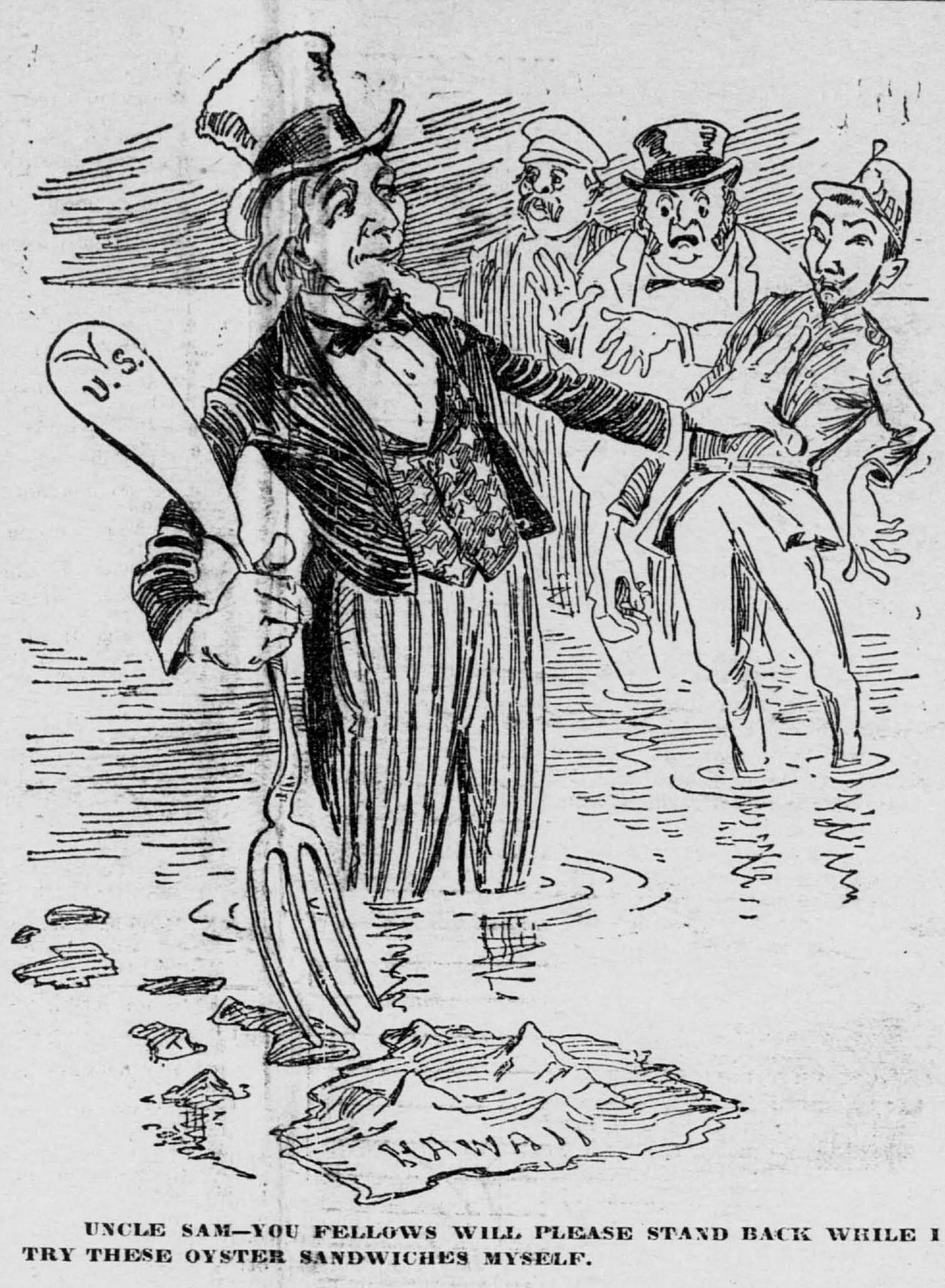 Uncle Sam clipart imperialism Historical  Newspaper Hawai'i Project