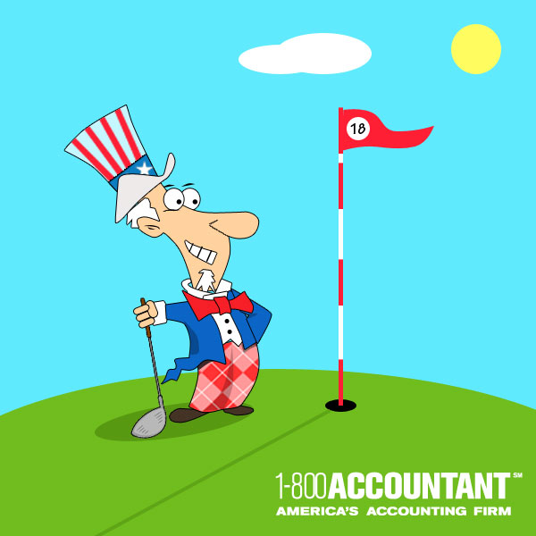 Uncle Sam clipart irs Golf tax for 800Accountant Sam