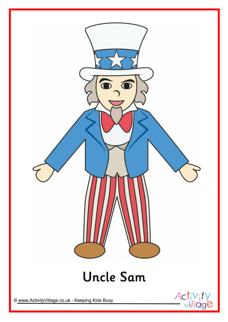 Uncle Sam clipart kid Sam Kids for Uncle Activities