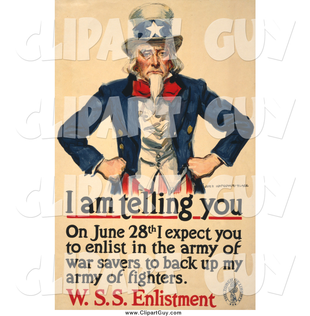 Uncle Sam clipart poster In a Uncle Clip Art