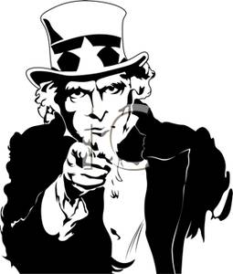 Uncle Sam clipart poster Sam You and Uncle White