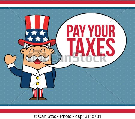Uncle Sam clipart sales tax Cartoon background tax vector uncle