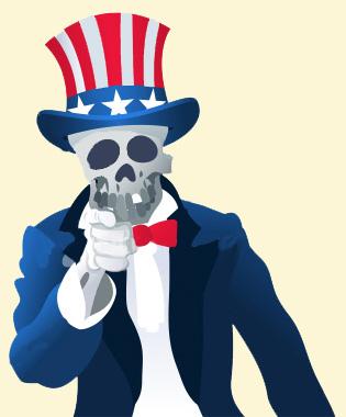 Uncle Sam clipart skeleton Uncle Sam Uncle Skeleton