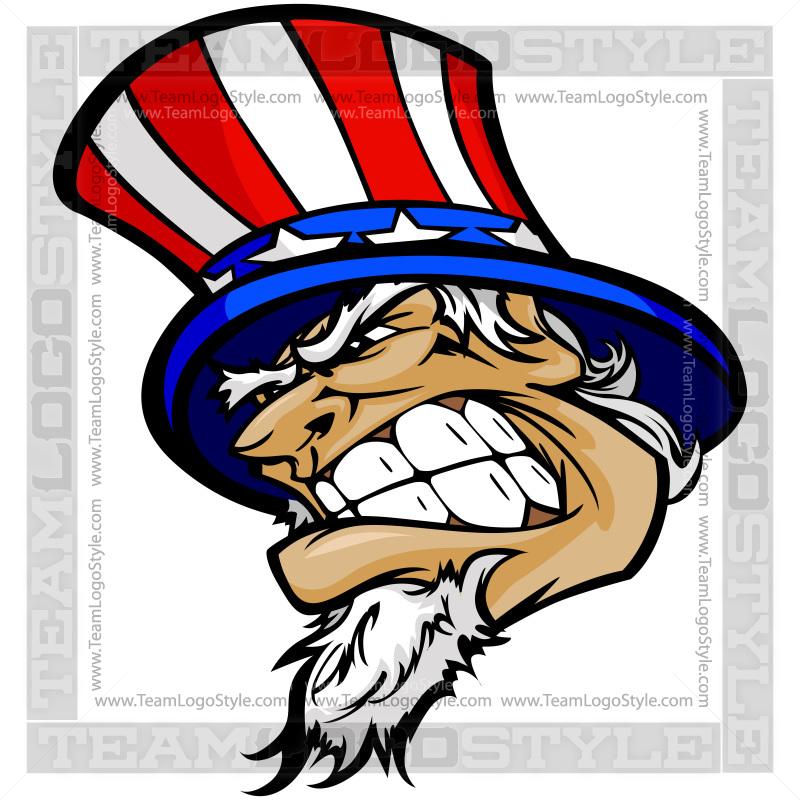 Uncle Sam clipart skeleton Team Style Details; Logo Team