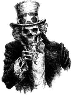 Uncle Sam clipart skeleton Uncle Horror Google+ Pinterest Art