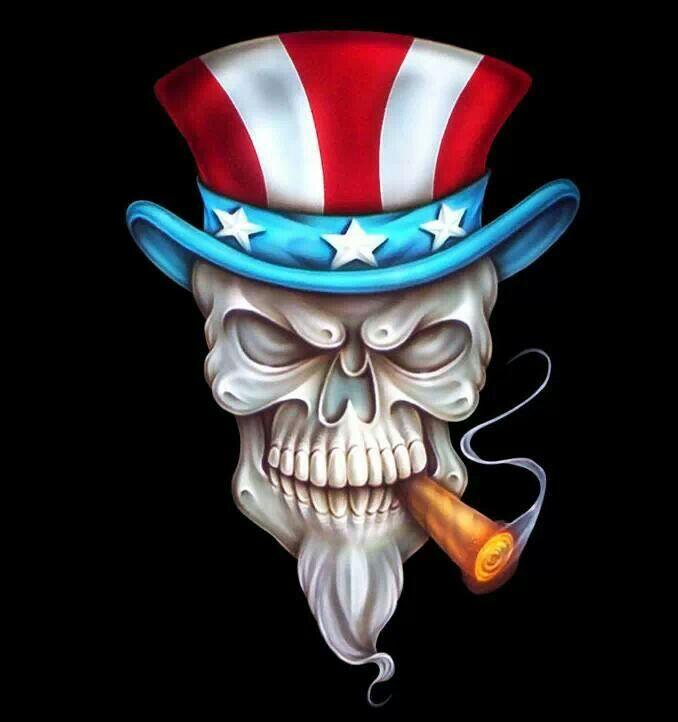 Uncle Sam clipart skeleton Pinterest Wicked Art evil skull