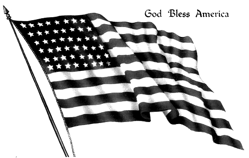 American Flag clipart black and white Bless Uncle Clipart Black cliparts