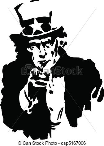 Uncle Sam clipart vector Clip Sam Black White csp5167006