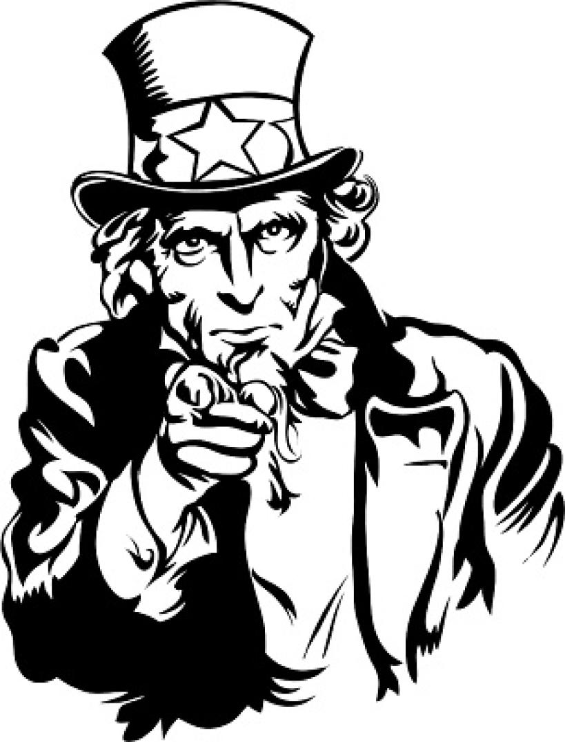 Uncle Sam clipart vector Sam Sam