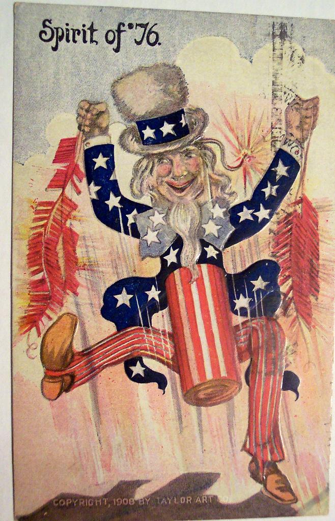 Uncle Sam clipart vintage July 4th or larger turn
