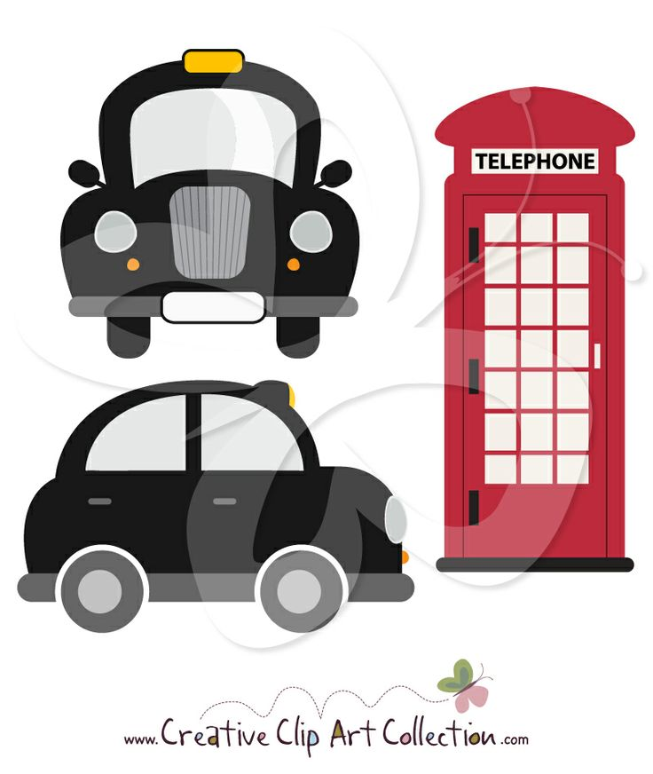 Phone Box clipart london underground Taxi clipart on from Clip