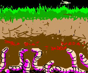 Underground clipart earthworm Earthworm convention Underground (drawing Underground