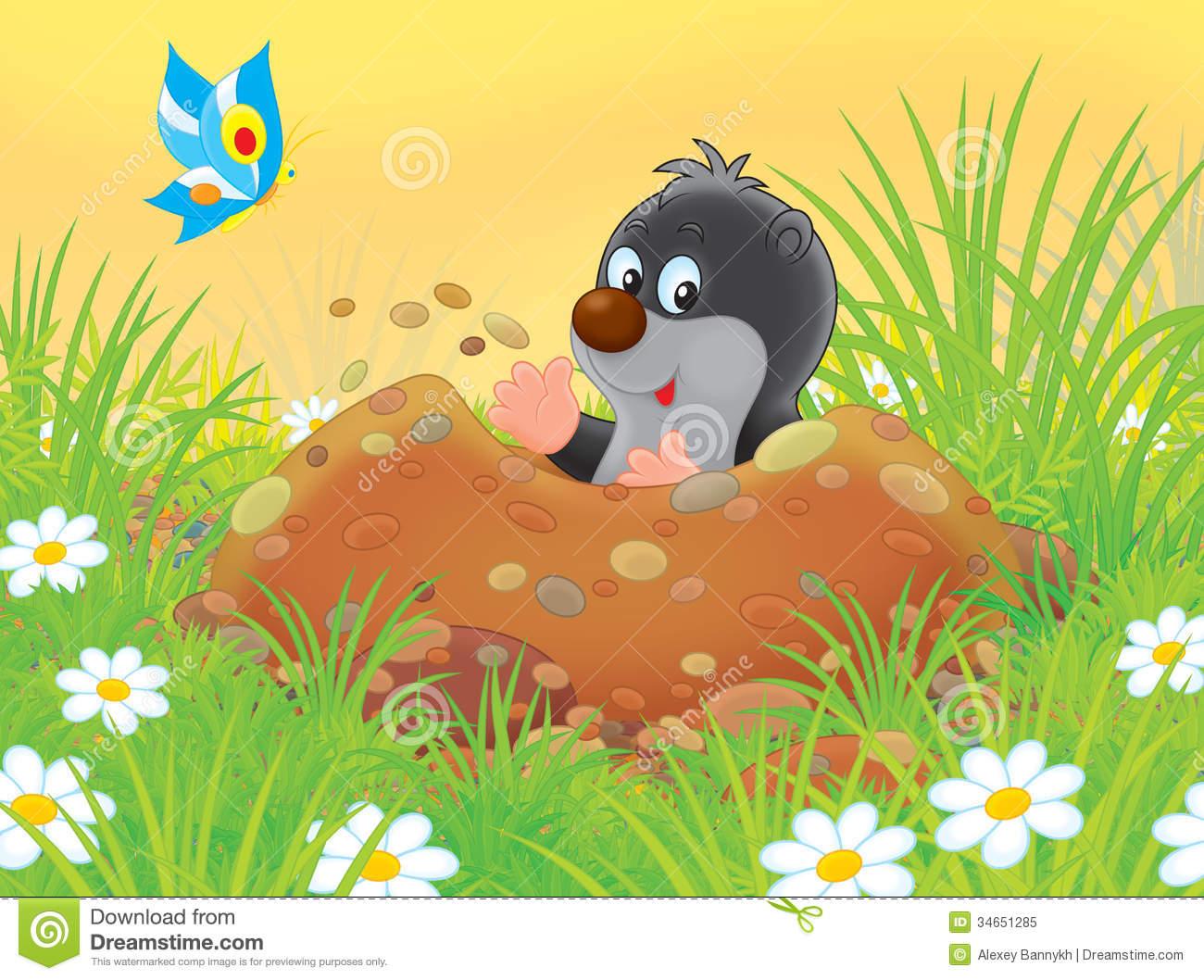 Underground clipart mole hole Animals clipart Free Burrowing Stock