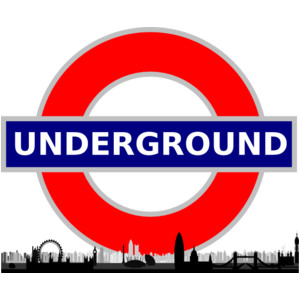 Underground clipart sign london With London Skyline Sign With