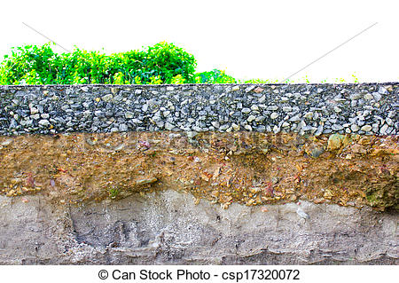 Underground clipart soil layer Soil cut damage to of
