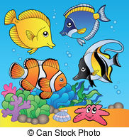 Underwater clipart And fishes Underwater 35 vector