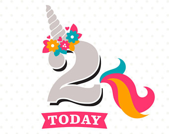 Birthday clipart unicorn Birthday SVG Girl Birthday SVG