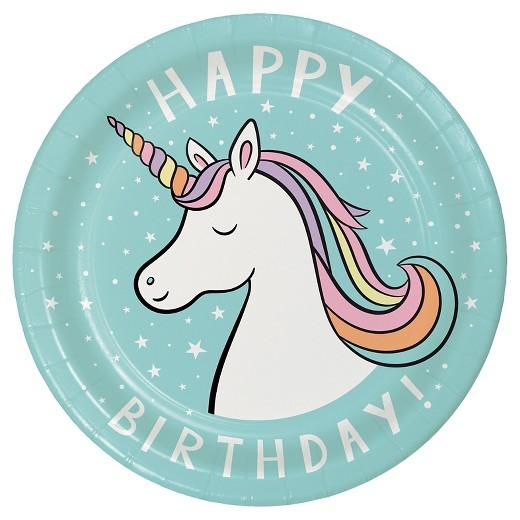 Birthday clipart unicorn Unicorn Spritz™ Plates Target Disposable
