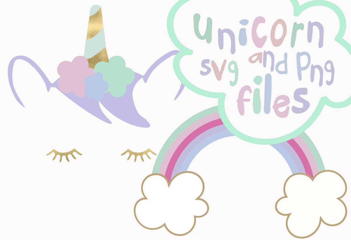Unicorn clipart rainbow hair Horn svg cream svg Unicorn