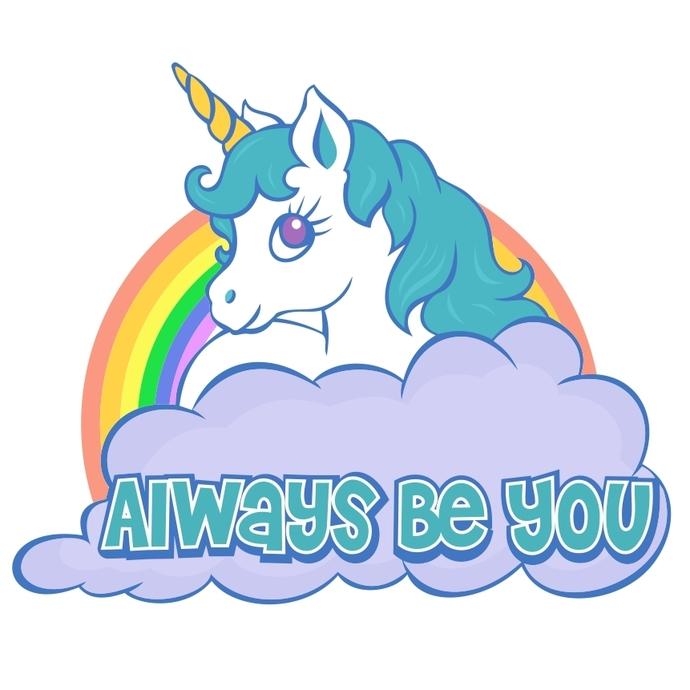 Unicorn clipart rainbow hair Ai Png EPS you Always
