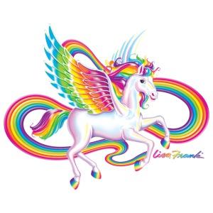 Unicorn clipart rainbow hair Frank Sleeve Baby Short Piece