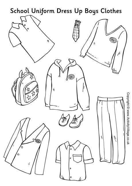 Uniform clipart boy dress up Boy Dress School Uniform collection
