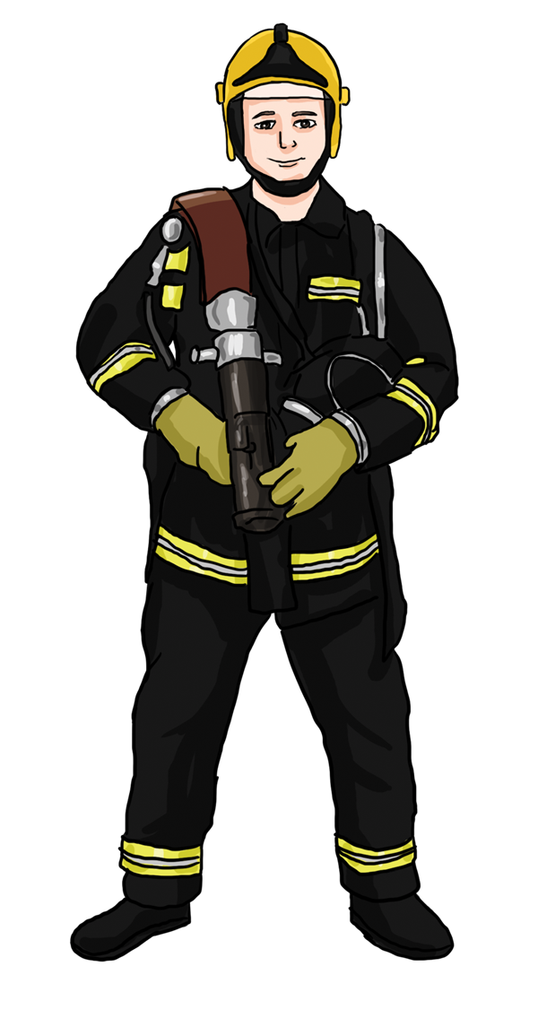 Firefighter clipart vector Vector Firefighter Clipart Art Free