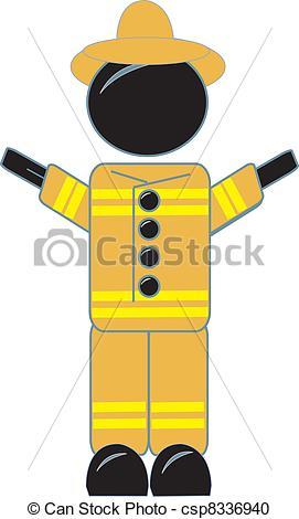 Uniform clipart fireman uniform Firefighter drawing of in Vector