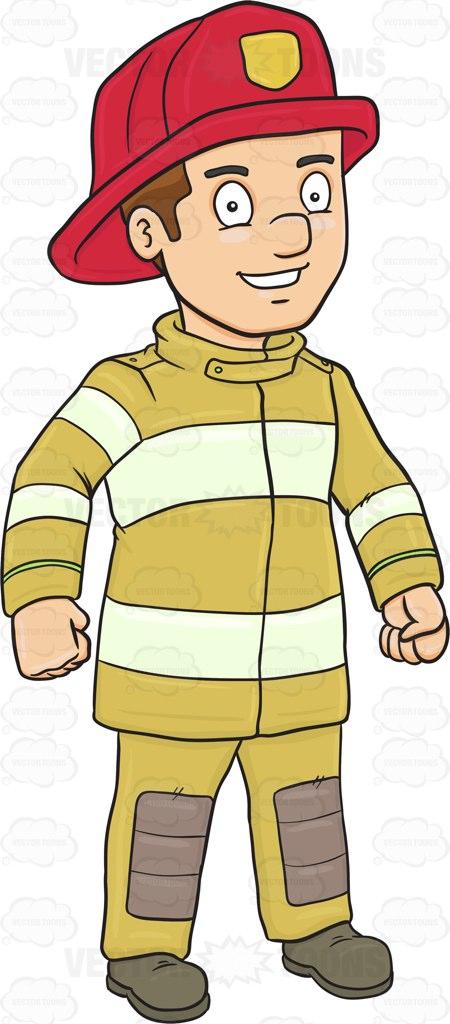 Uniform clipart fireman uniform Confident A Happy Firefighter And
