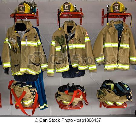 Firefighter clipart fireman uniform Uniform  Stock in 3