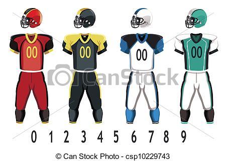 Uniform clipart football uniform #12