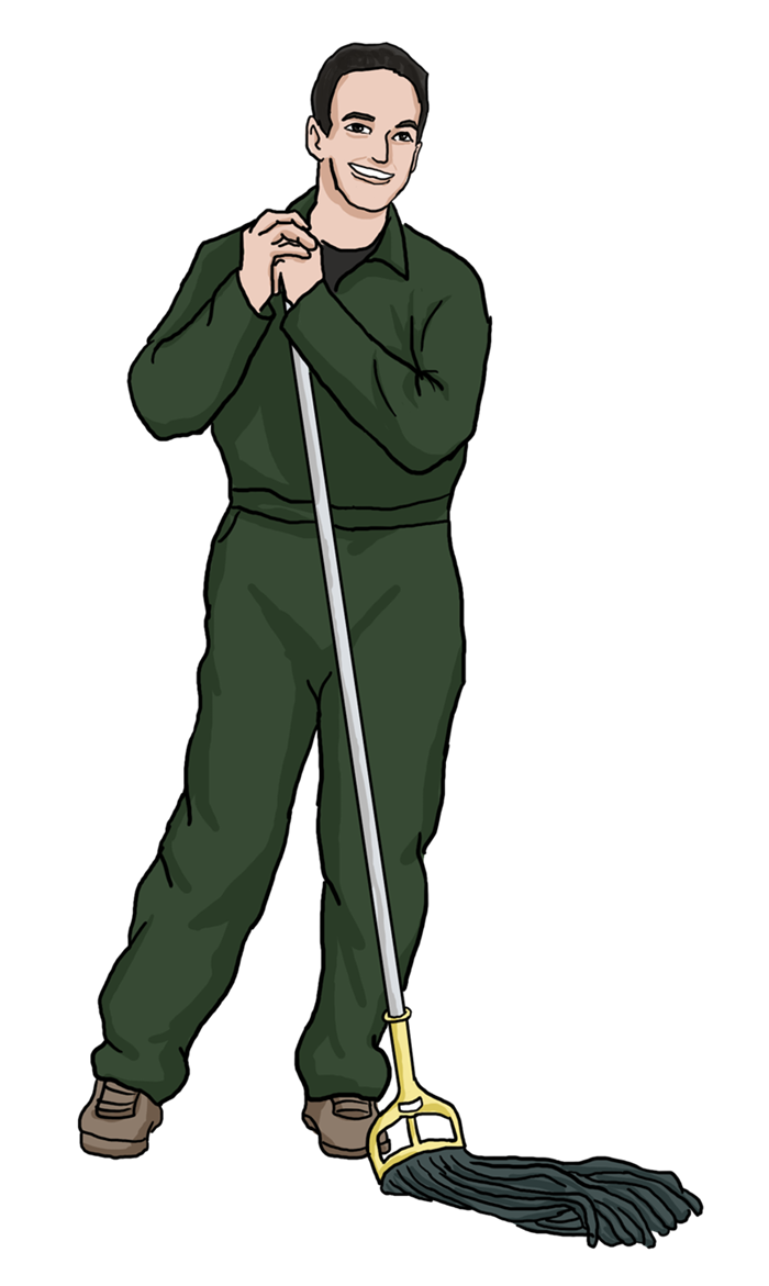 Uniform clipart janitor Janitor Free Clip Janitor Art