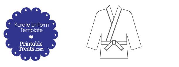 Shirt clipart karate — Karate Template Printable Uniform