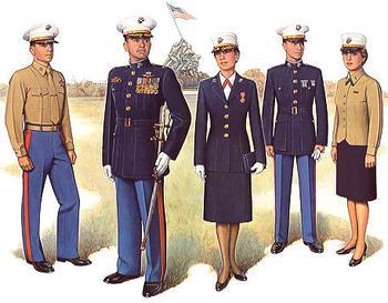 Uniform clipart military branch Semi Marine Dress dress Semi